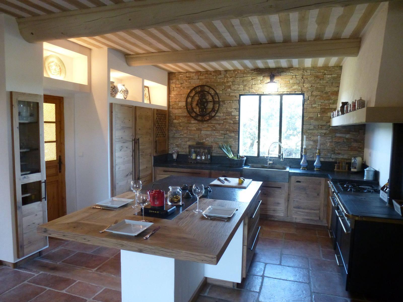 cuisine campagne en ch ne naturel atelier bois deco