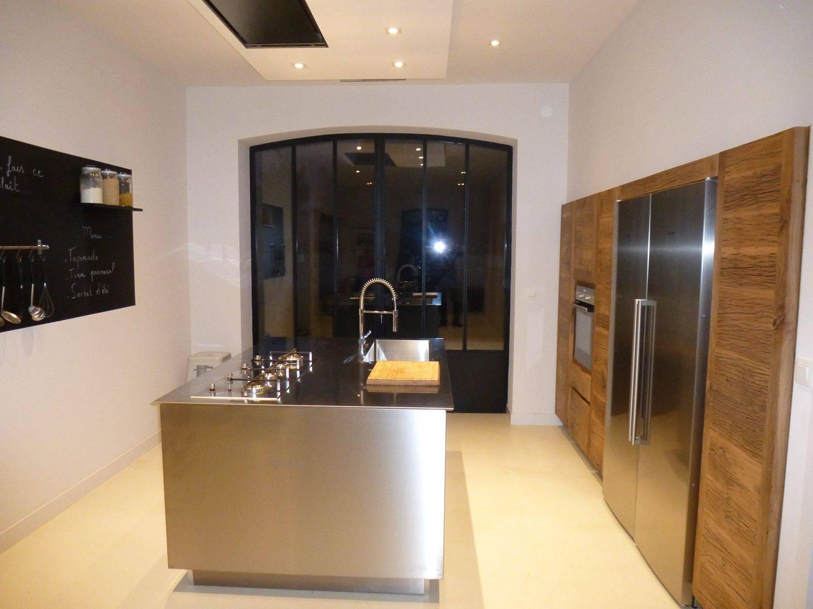 cuisine en inox villeneuve les avignon mod le inoxpro atelier bois deco. Black Bedroom Furniture Sets. Home Design Ideas